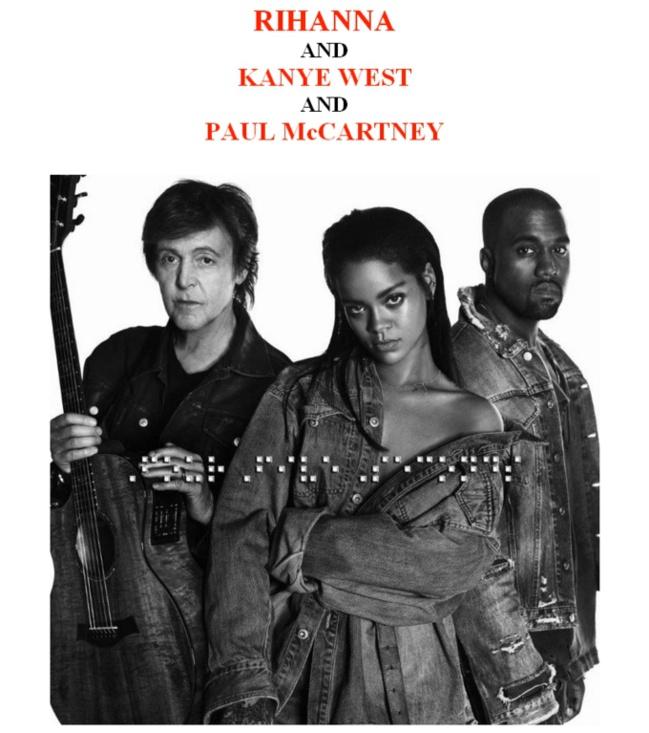 Rihanna «Four Five Seconds» feat Kanye West & Paul McCartney